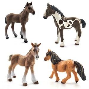 Image 2 - محاكاة نماذج للحيوانات الخيول عمل أرقام الأطفال ديكور المنزل الجنية حديقة اكسسوارات الديكور تمثال هدية للأطفال لعبة