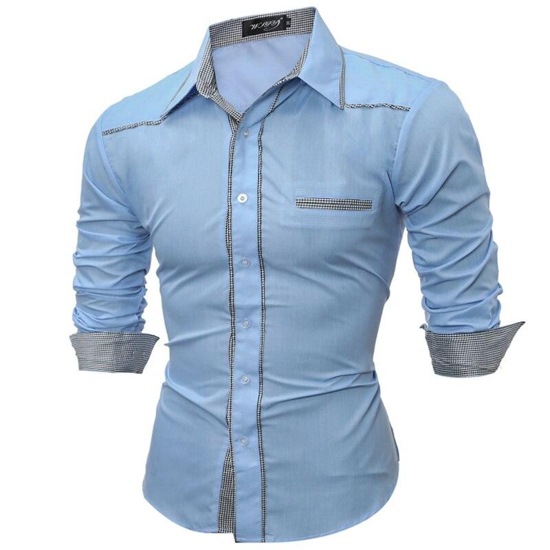 2018 MenS Shirt Long Sleeve Plaid Patchwork Shirts Mens Dress Shirt Brand Slim Casual Checks Shirts Large Size XXXL