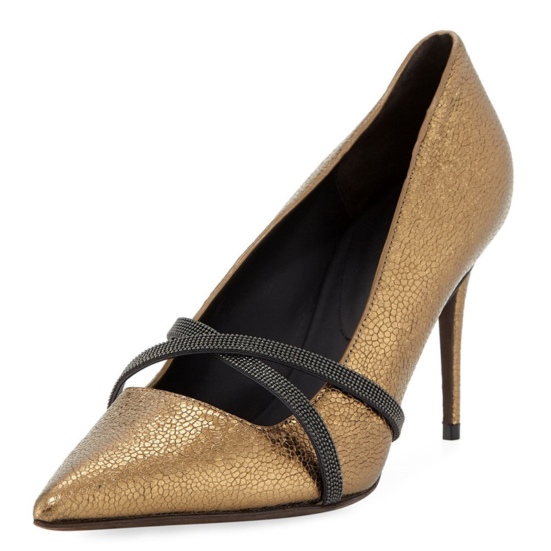 Ladies Sexy Gold Snakeskin Stiletto Shoes Woman Cross Strappy Slip On Dress Pumps Women Shoes Python Printed High Heels ShoesLadies Sexy Gold Snakeskin Stiletto Shoes Woman Cross Strappy Slip On Dress Pumps Women Shoes Python Printed High Heels Shoes