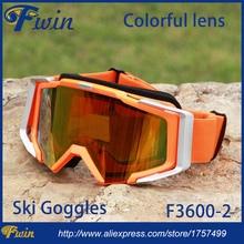 High quality professional ski goggles double lens UV400 anti-fog big ski glasses skiing snowboarding colorful snow goggles