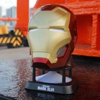 New Hongkong Iron Man Bluetooth Speaker Iron Man 3 Golden Mark Helmet Mini Wireless Bluetooth Desktop Music Player Subwoofer