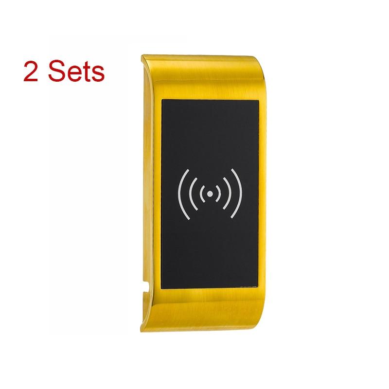 L&S 2 Sets SPA Smart Elactronic Cabinet Locker Lock Digital Lock For Swimming Sauna Pool Gym CL16003