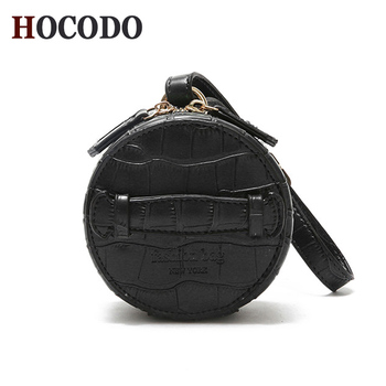 HOCODO Women Vintage Crocodile Pattern PU Leather Small Round Bag Mini Clutch Bags Ladies Handbag Wallet tote bags for women leather