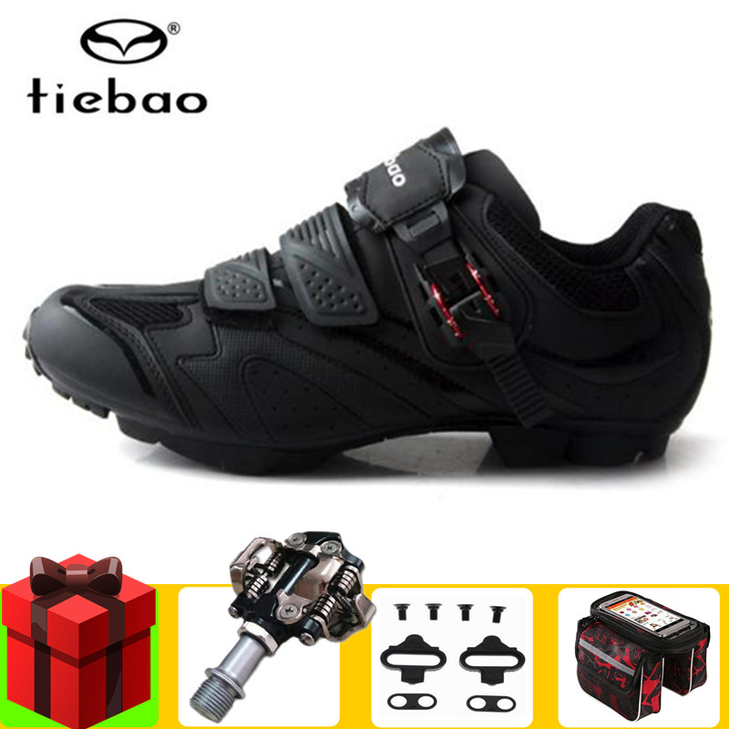 0b6f9a6de Tiebao cycling shoes add SPD pedal Sapatilhas Ciclismo MTB Mountain Bicycle  Shoes Riding Sneakers Non-