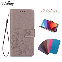 Wolfsay Fundas for Samsung Galaxy A40 Case Flip PU Leather Cases Cover For A405F Wallet