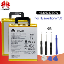 Hua Wei HB376787ECW Original Replacement Phone Battery For Huawei Honor V8 8 honor V8 Rechargeable Li-ion battery 3400mAh +Tools аккумулятор для телефона ibatt hb376787ecw для huawei honor v8 knt al10 honor v8 premium