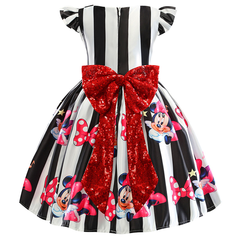 Christmas Minnie Baby Girl Dress for Girl 1 Year Birthday Party Dress 1-5year Princess dress Infant Clothing Toddler Kids Dresse