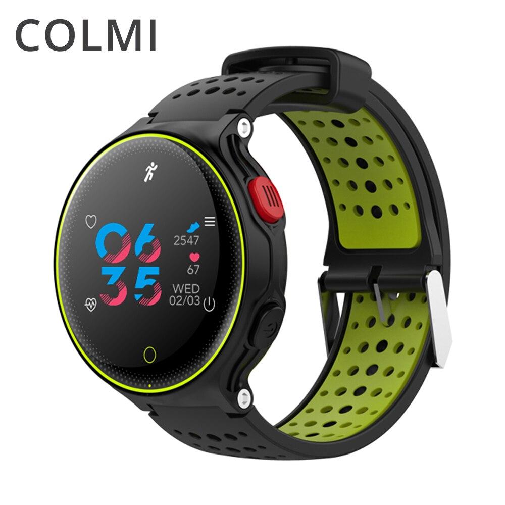 ColMi Smartwatch сердечного ритма трекер IP68 Водонепроницаемый сверхдальние ожидания для IOS Android телефон смарт часы