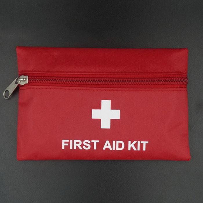 2PCS Portable Outdoor Mini Survival Hiking Emergency First Aid Camping Travel Red Bag First Aid Kit Bag