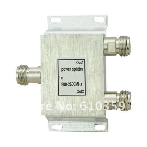 high quality 2 Way Power Splitter 800-2500MHz Signal Booster cellphone repeater Divider for 3g cdma gsm dcs etc