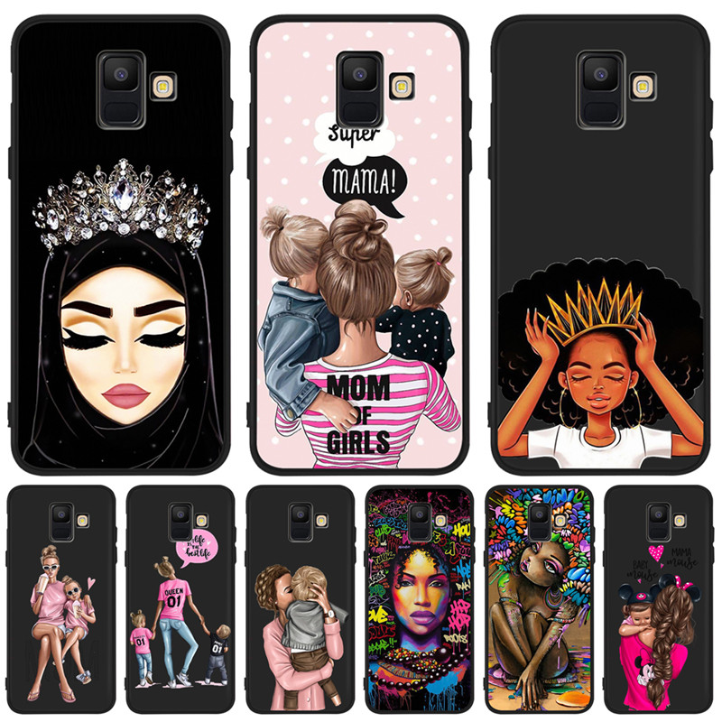 Baby Mom Arabic Africa Girl queen For <font><b>Samsung</b></font> Galaxy A9 A8 A7 A6 A5 A3 J3 J4 <font><b>J5</b></font> J6 J8 Plus 2017 2018 phone Case Cover Coque Etui image
