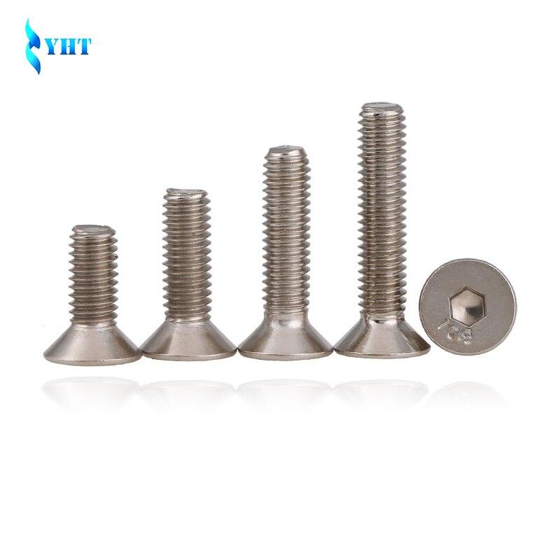 DIN7991 GB70.3 ISO10642 JISB1194 M2 M2.5 M3 M4 M5 M6 304 Stainless Steel Hexagonal Countersunk Screws Flat Head Screw Bolt цена