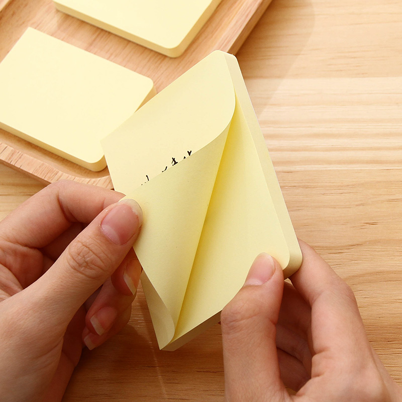 80 Sheets Yellow Color Full Page Glue Stickers Self-Adhesive Sticky Notes 3Sizes Available Message Note School Office Home  7742