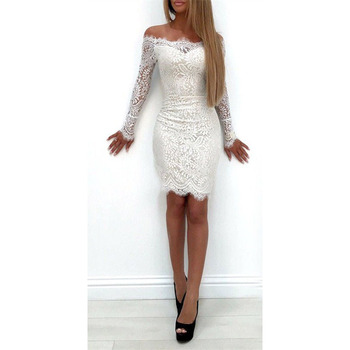 Women Long Sleeve Lace Floral Dress 1