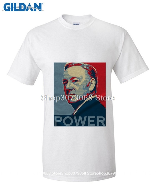 GILDAN t shirt design patternCustom House of Cards Kevin Spacey / men  O-Neck short-sleeved T-shirt shirt / plans to customize /