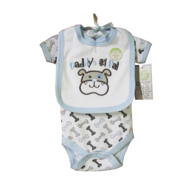 New 2019 Brand Baby Bodysuits+bibs Newborn Cotton Body Baby short Sleeve Underwear Infant Boys Girls Pajamas Clothes