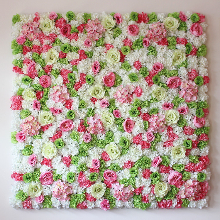 40cm 60cm colorful artificial rose with dalia flower wall for Artificial flower for wedding decoration