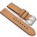 Men / Women Handmade strap, 20mm / 22mm / 24mm Genuine Leather Watch Strap For panerai, Silver Pin Buckle Black Watchbands