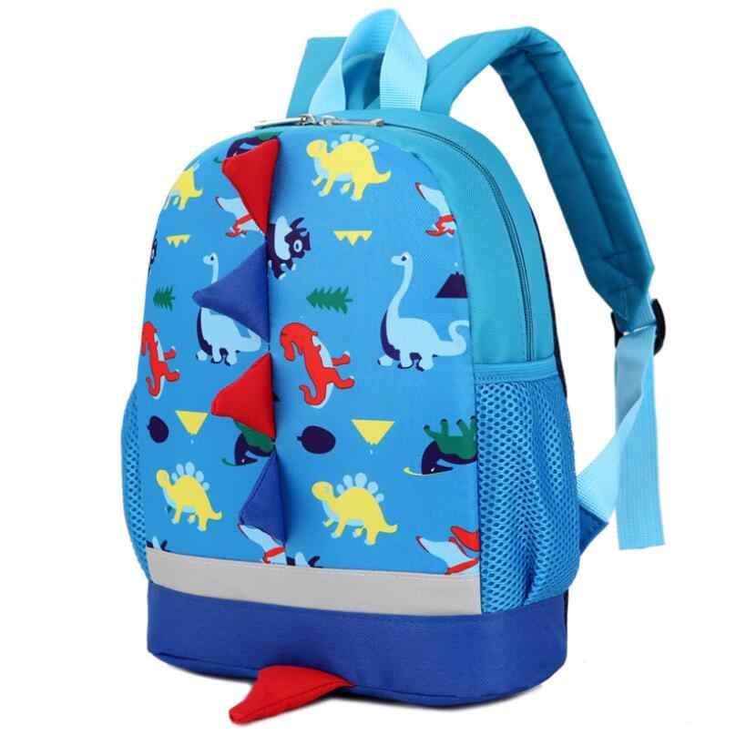 Детская школьная сумка с рисунком динозавра рюкзак для мальчиков детские
