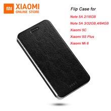 Original Xiaomi Flip Case for Note 5A Mi 5C Xiaomi 5S Plus Mi 6 High Quality