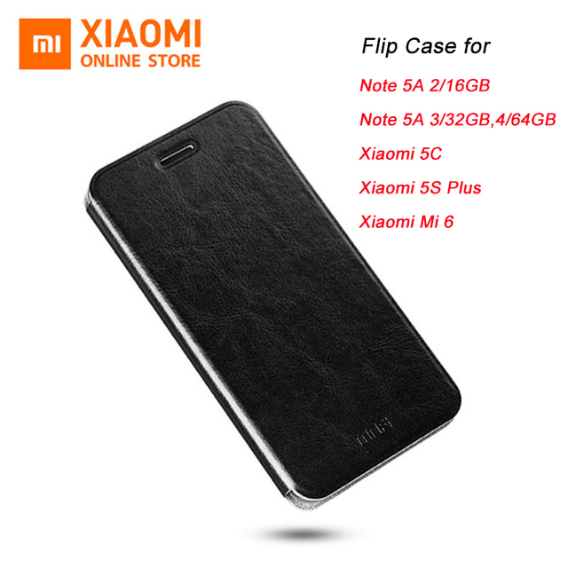 Original Xiaomi Flip Case for Note 5A Mi 5C Xiaomi 5S Plus Mi 6 High Quality