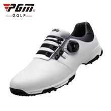 Обувь для гольфа, мужские кожаные водонепроницаемые шнурки для кроссовок, автоматическая вращающаяся обувь для гольфа D0472