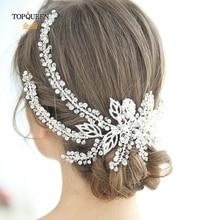 TOPQUEEN HP254 Wedding Hair Accessories Pamelas Headgear Weddings Bridal Headdresses for Girlfriend Fascinators for Wedding
