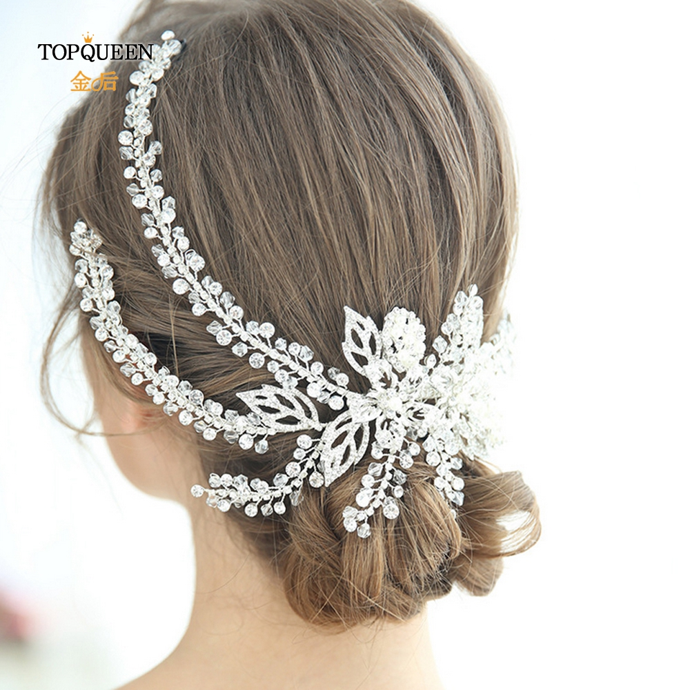 TOPQUEEN HP254 Wedding Accessories Pamelas And Headgear For Weddings Bridal Headdresses For Girlfriend Fascinators For Weddings