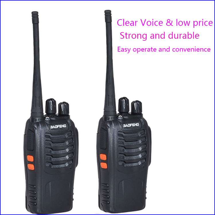 imágenes para 2 unid walkie talkie de dos vías de radio baofeng bf-888s interfono inalámbrico 888 888 s con uhf400-470mhz walk talk radio cb comunicador