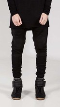 Локомотив джинсы личности лоскутное джинсы хлопок карандаш джинсы для мужчин мода уличный стиль узкие джинсы мужчин(China (Mainland))