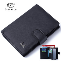 Genuine Leather Passport Cover Men Travel Passport Holder Card Case Man Card Wallets High Quality