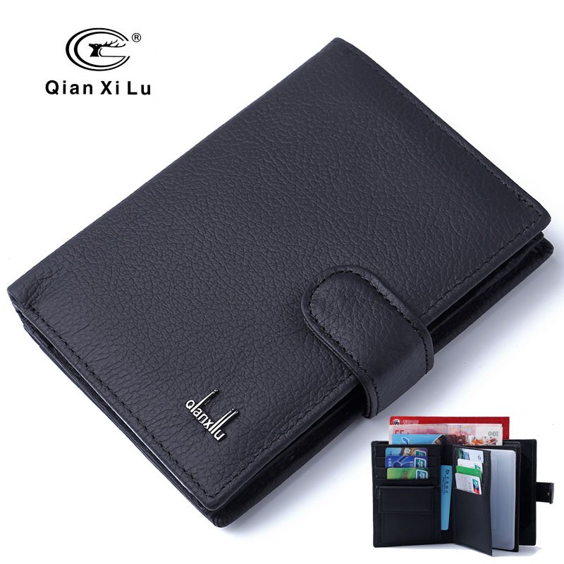 Ekte Leather Passport Cover Menn Reise Pass Holder Card Case Man Card Wallets High Quality