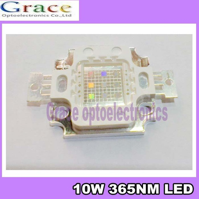 NEW Ultra Violet 10W 365nm UV LED black light lamp 10watt high power led for Glue curing &money detect