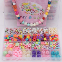 DIY acrylic beads toys sets mixed colors jewelry accessories for necklace and bracelet educational toys beads girl gift