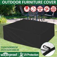 Outdoor Furniture Cover Garden Furniture Waterproof Protector Rain Snow Chair Dust Cover Table Sofa All Purpose Cover 2 Sizes