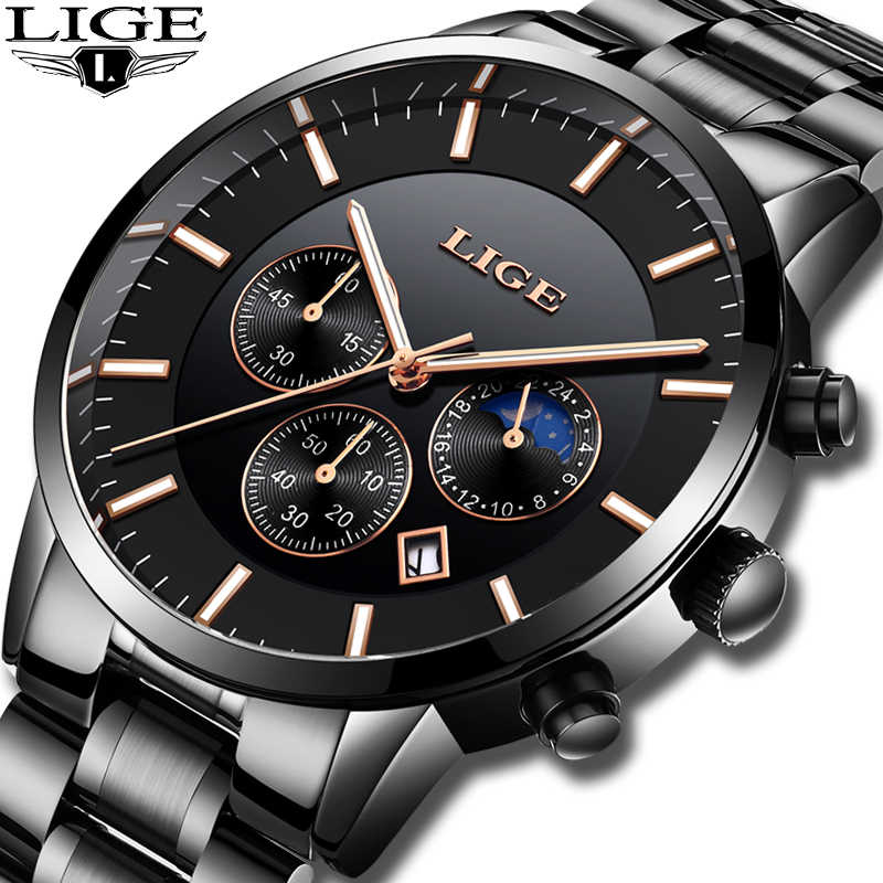 Relogio Masculino 2019 LIGE Mens Watches Top Brand Luxury Men's Fashion Business Watch Men Casual Waterproof Quartz Wristwatch