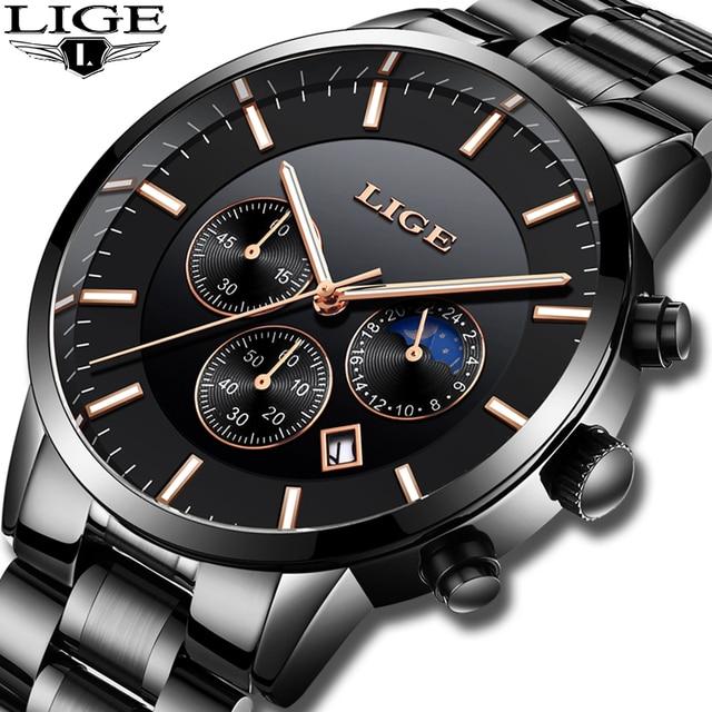 deb63a49b00 Relogio masculino 2019 LIGE Mens Relógios Top Marca de Luxo Relógio Dos  Homens de Negócios de