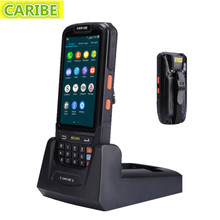Caribe PL-40L  Waterproof 4 inch 4g rugged android pda industrial tablet with long distance rfid reader and 1d laser scanner