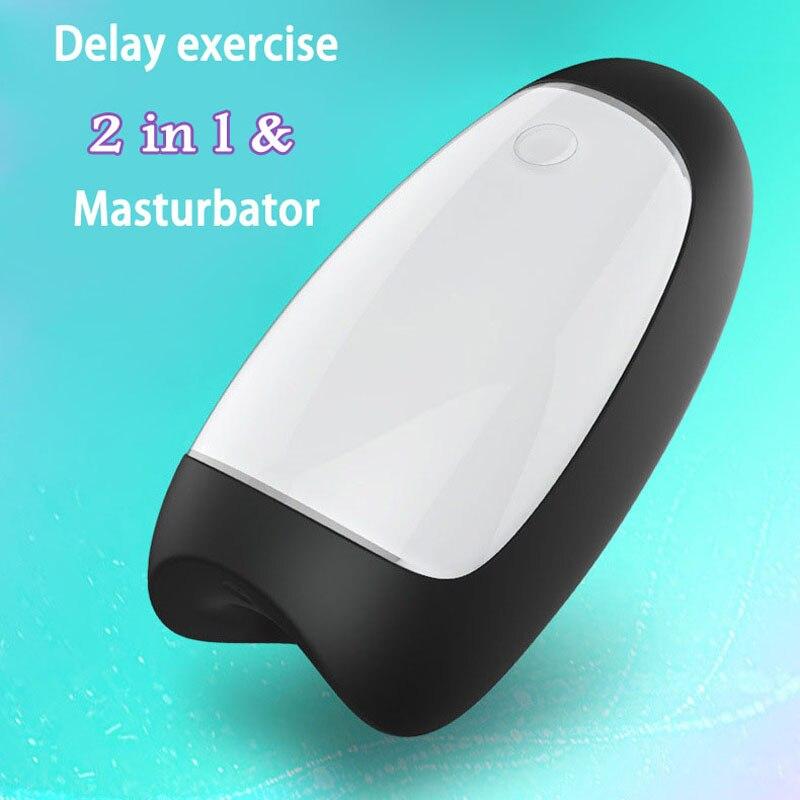 Rends Pulse Delay Exercise Vibrator For Men Penis Massager Male Masturbator Cup USB Sex Machine Erotic Toys For Men Masturbators exerpeutic 1000 magnetic hig capacity recumbent exercise bike for seniors