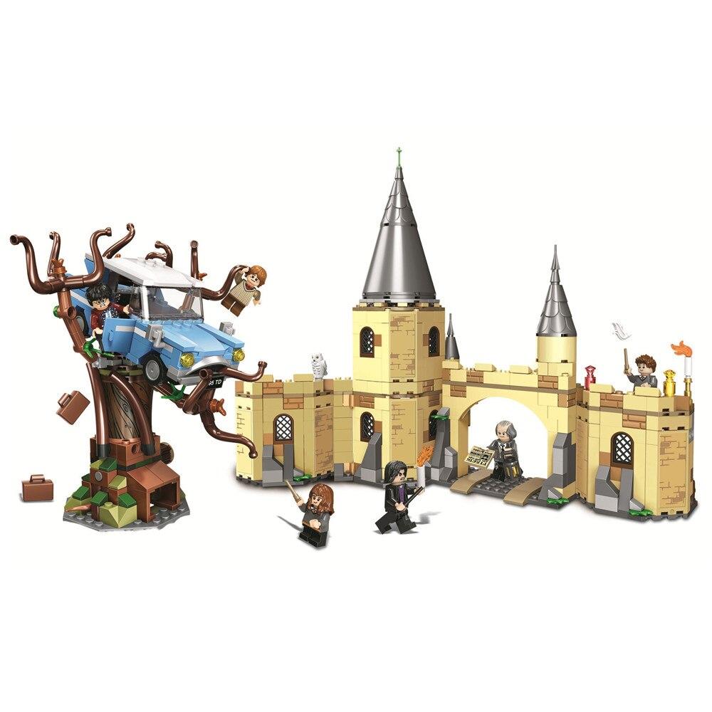 Poudlard Harry Cogneur Saule Blocs de Construction Kit Briques Ensembles Classique Film Potter Modèle Enfants Jouets Cadeau Marvel Compatible Legoe