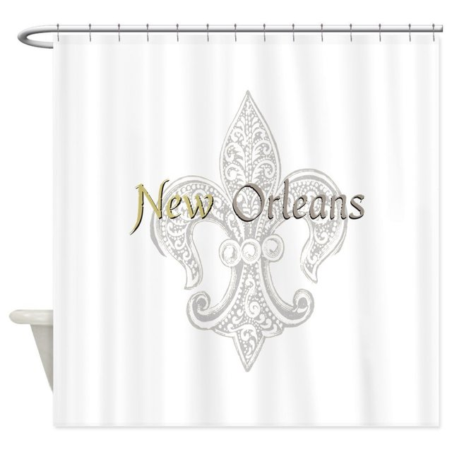 New Orleans Shower Curtain Decorative Fabric Set And Anti Slip Floor Mat Outdoor
