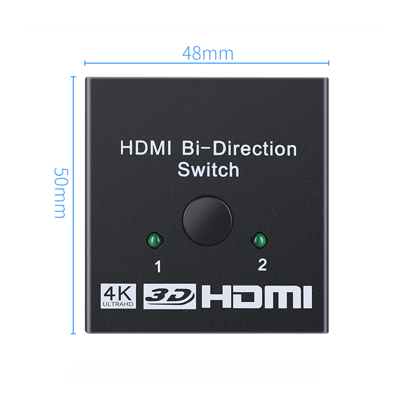 4K HDMI Switch 2 Ports Bi directional 1x2 2x1 HDMI Switcher Splitter Supports Ultra HD 4K 4K HDMI Switch 2 Ports Bi-directional 1x2 / 2x1 HDMI Switcher Splitter Supports Ultra HD 4K 1080P 3D HDR HDCP for PS4 Xbox HDTV
