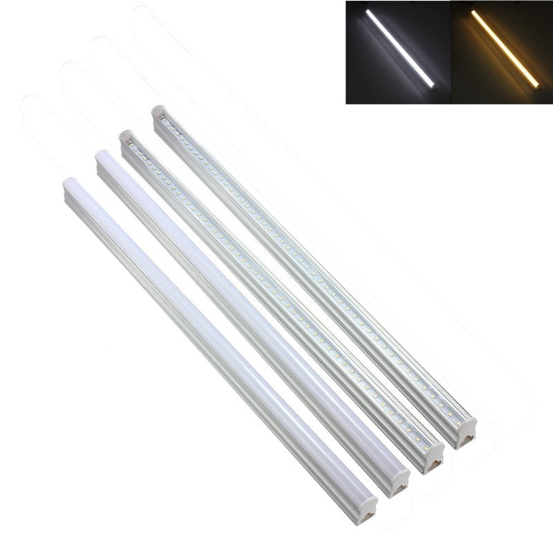 Super Bright Cold Warm White T5 60CM 9W 2835 SMD 48 LED Tube Light Lamp Wall Tube Lights Home Lighting AC175-265V 1pcs super bright 3w 4w 5w 6w 7w gu10 led bulb spot light lamp 110v 220v dimmable gu10 smd 5050 2835 lighting warm cold white