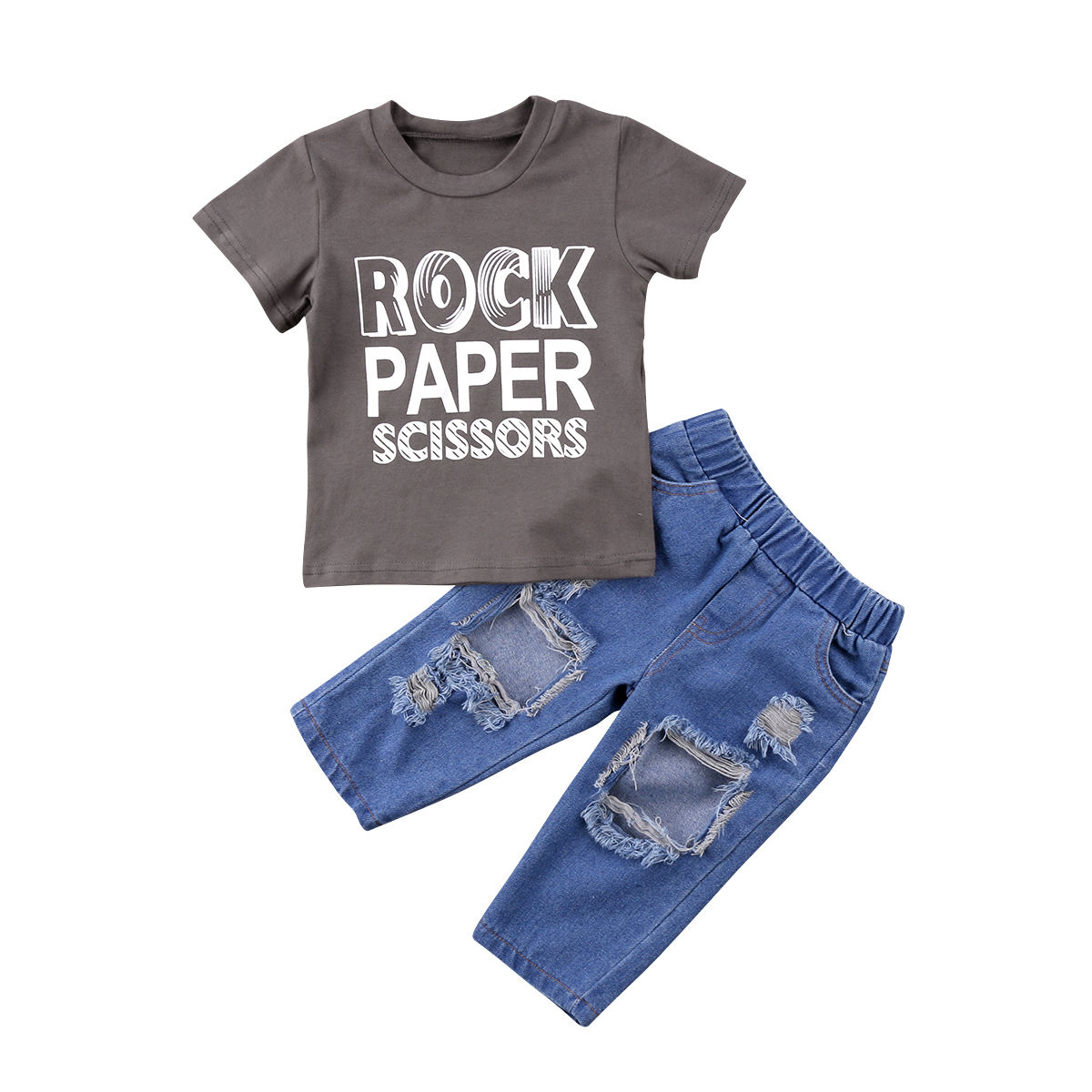 2018 Toddler Kids Baby Boy Clothes Short Sleeves Gray Paper T Shirt Mom N Bab Long Pants Blue Polkadot Size 4t Tops Denim Leggings Hollow Jeans Outfits Fashion Set In Clothing Sets From Mother