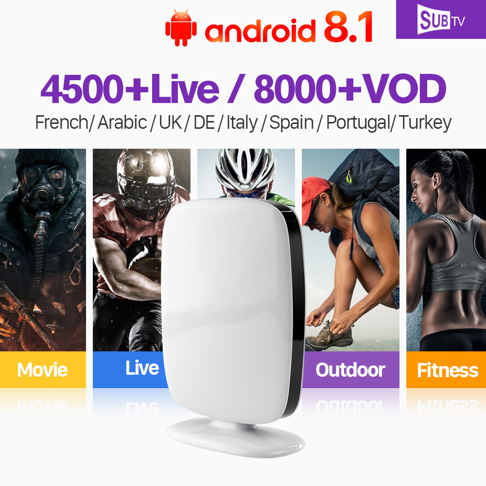 French IPTV Subscription Arabic IP TV RK3229 Android 8.1 TV Box Full HD Live IPTV Portugal Turkish IP TV Code IPTV 1 Year Italy eachlink ix88 android 5 1 1 rk3229 tv box