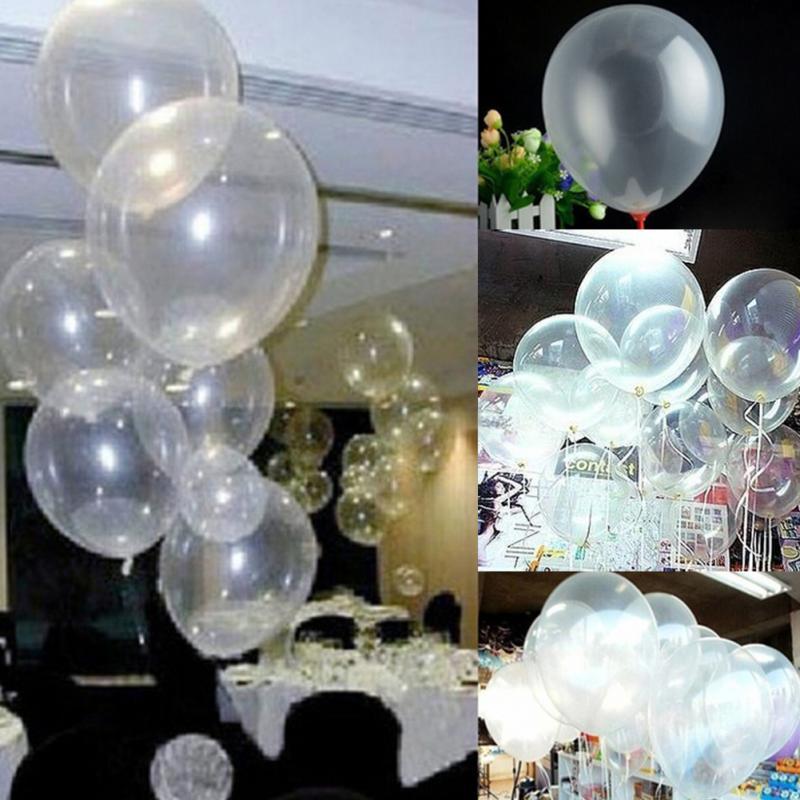 100 unids 10 pulgadas transparente globo de ltex globos para la decoracin del banquete de boda