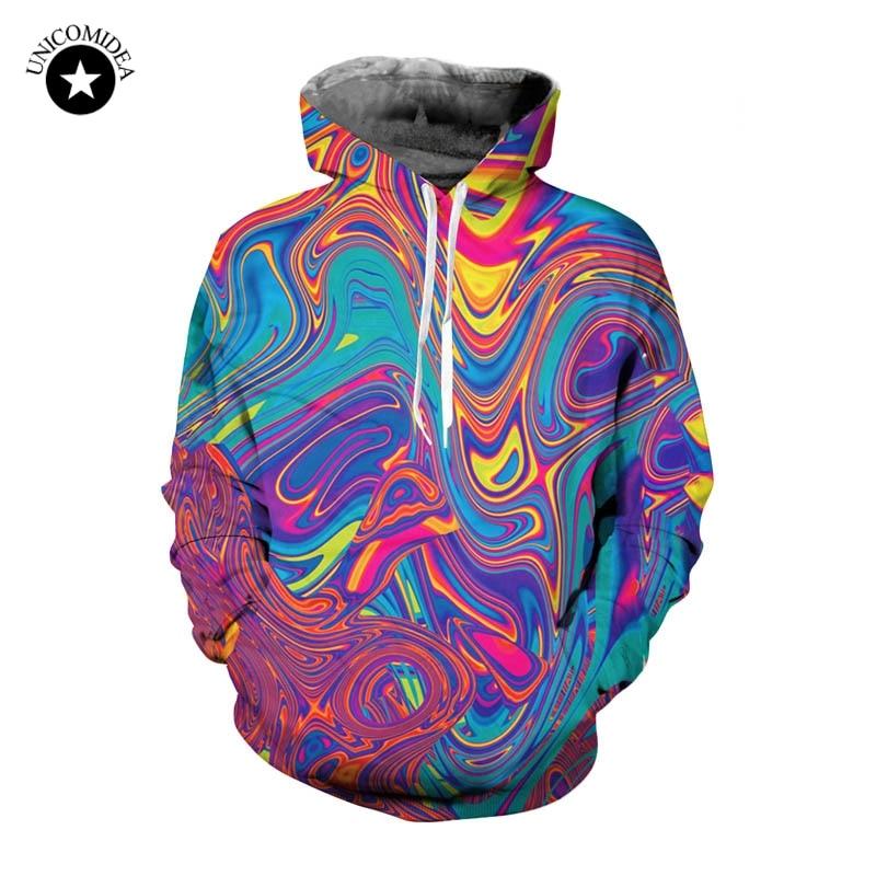 Brizbazaar Art 3D Zip Hoodie Zipper Hoodies Tracksuits Sweatshirt Magic Coat