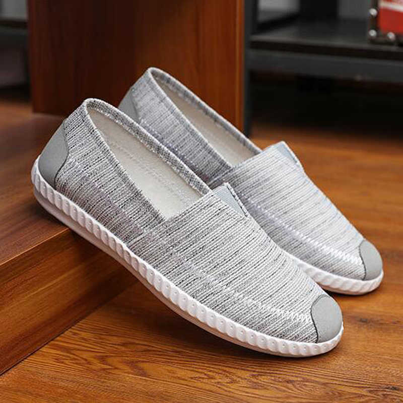 Casual Men Beach Loafer Shoes Breathable Summer Light Weight Man Flats Soft Driving Shoes Drop Shipping  H328