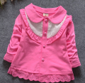 (1piece /lot) 100% cotton 2015 cute Girl Openwork lace  outwear for baby girl clothes