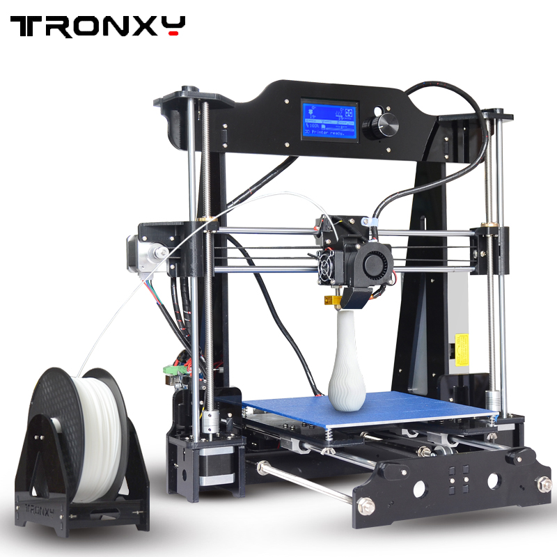 Tronxy 2017 Upgraded Quality High Precision Reprap 3D printer DIY kit X8 max print size 220*220*200mm nb f80 black
